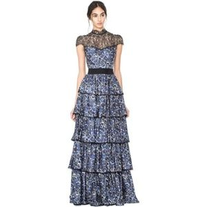 Alice + Olivia McKee Tiered Maxi Dress